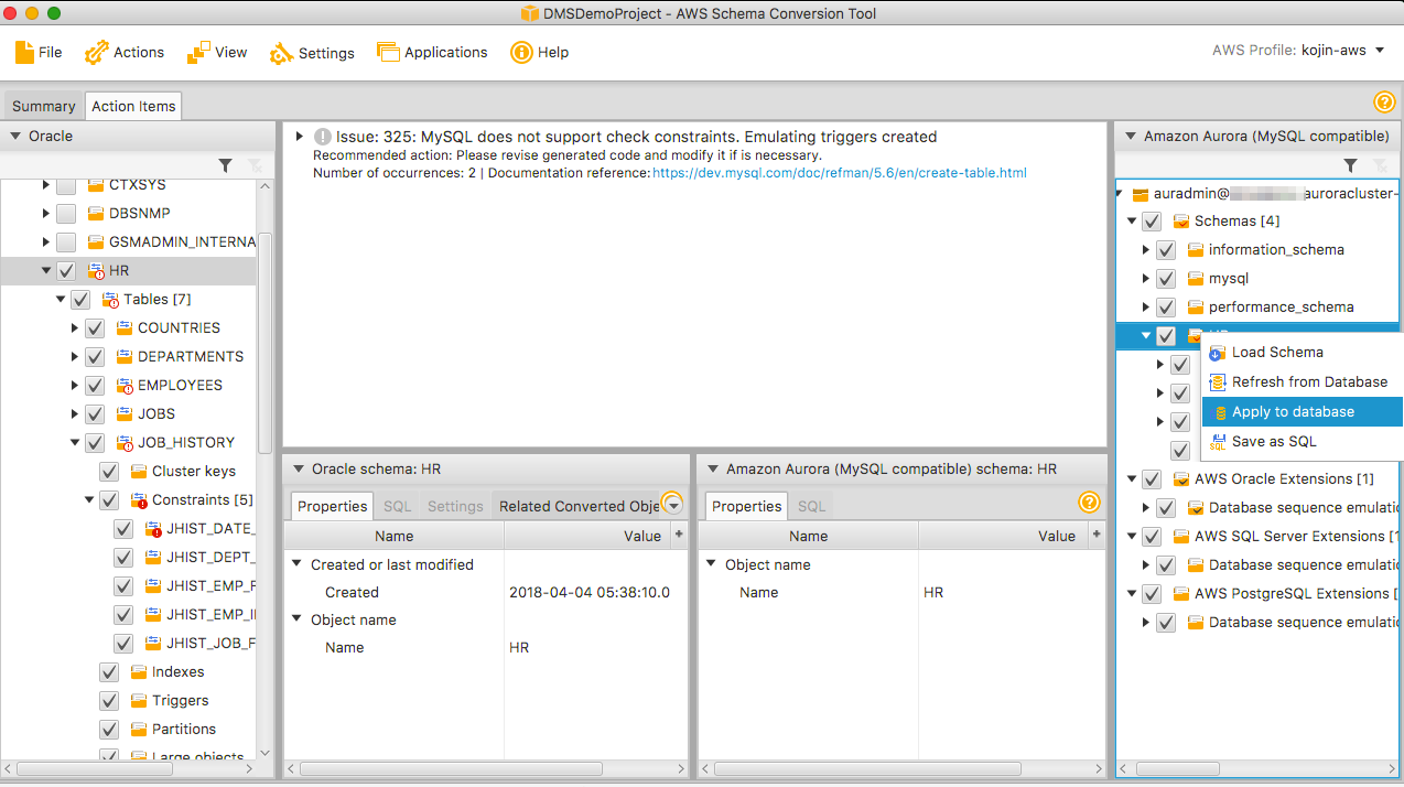 AWS Database Migration Service(DMS)入門 その2(スキーマ変換編