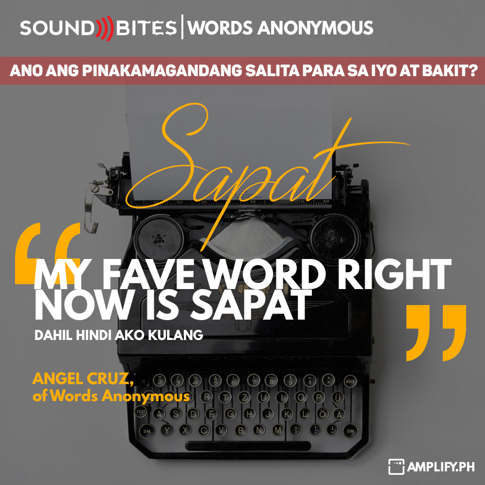 Amplify ph Soundbites: Words Anonymous by Alex Francisco