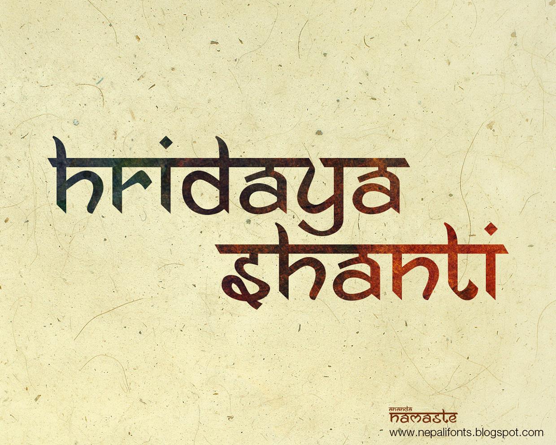 Ananda Namaste Free Font by Ananda K  Maharjan