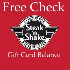 Free Online Check Steak and   Shake Gift Card Balance